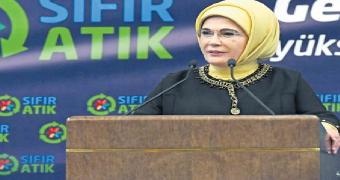 cumhurbaşkanı recep tayyip erdoğanın eşi, sıfır atık projesi