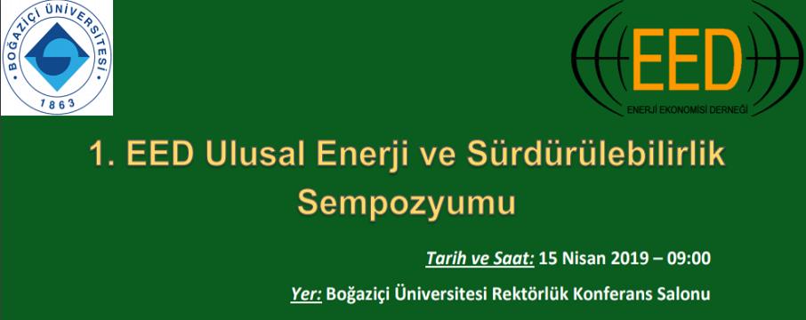 1.eed ulusal enerji ve sürdürülebilirlik sempozyumu