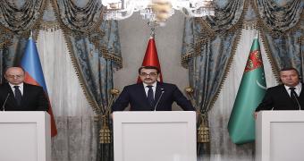 etkb fatih dönmez Azerbaycan Enerji Bakanı Perviz Şahbazov Türkmenistan Jeoloji Bakanı Şahım Abdrahmanov