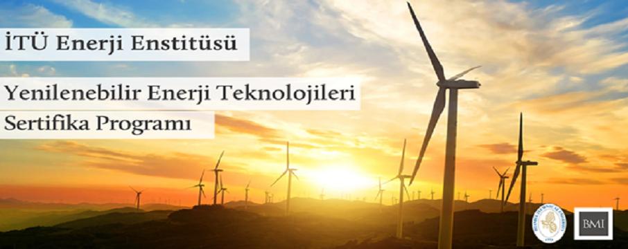 itü yenilenebilir enerji teknolojileri sertifka programı