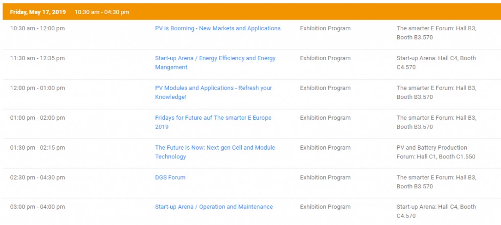 ıntersolar europe program
