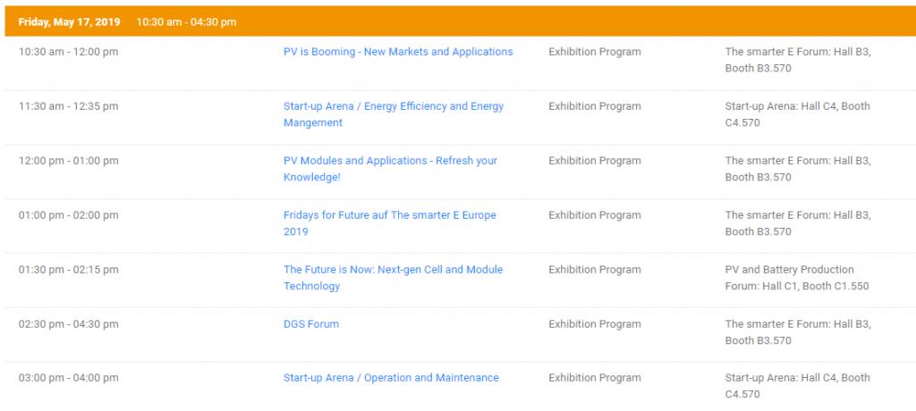 ıntersolar europe program