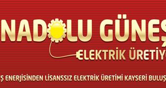 anadolu güneşi elektrik üretiyor