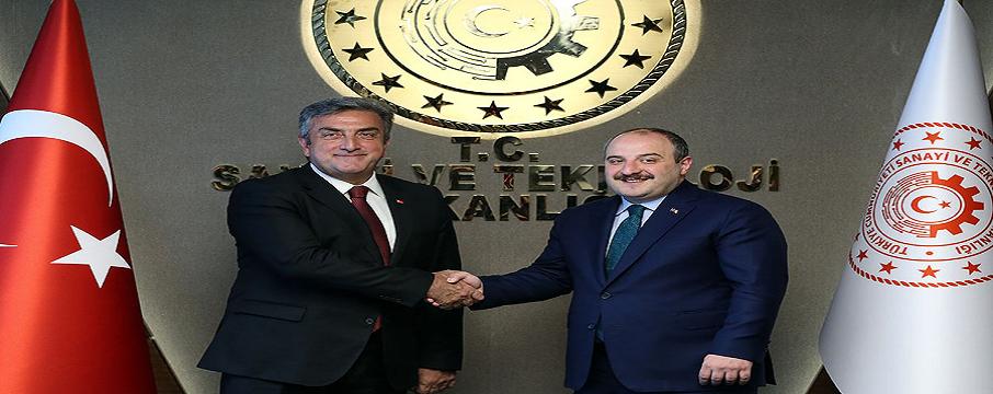 Sanayi ve Teknoloji Bakanı Mustafa Varank, Türkiye Uzay Ajansı Başkanı Serdar Hüseyin Yıldırım