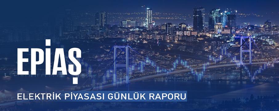 EPİAŞ elektrik piyasası günlük raporu
